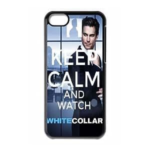 WEUKK White Collar iPhone 5C phone case, diy phone case for iPhone 5C White Collar, diy White Collar cover case