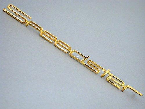 (Porsche 356a/b/c SPEEDSTER Emblem Gold for front panel)