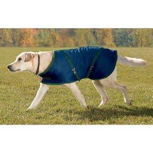 - Rider's by Dover Saddlery Fleece-Lined Dog Blanket - Navy/Hunter, M(21
