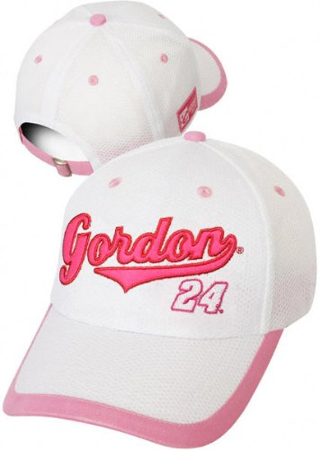 (Chase Authentics Jeff Gordon Women's Embroidered Pink Hat)