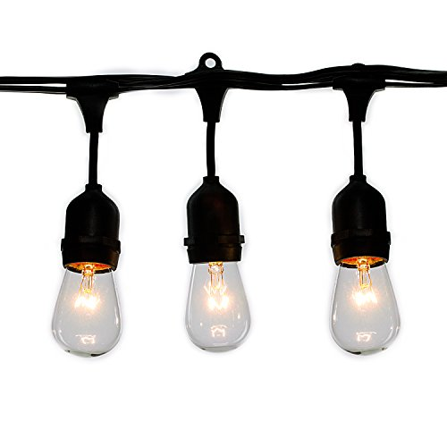 Vintage Style Outdoor Commercial Patio String Lights w/Incan