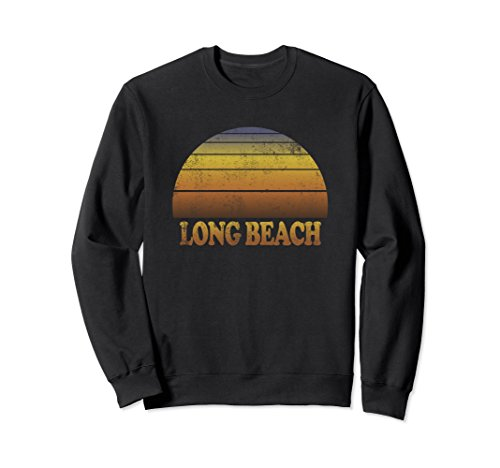 Unisex Long Beach Sweatshirt Clothes Adult Teen Kids California XL: Black