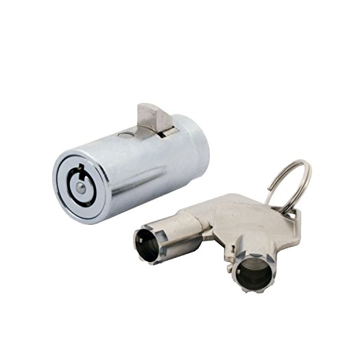 FJM Security 2501B-KA Tubular Vending Machine Lock with Chrome Finish, Keyed Alike