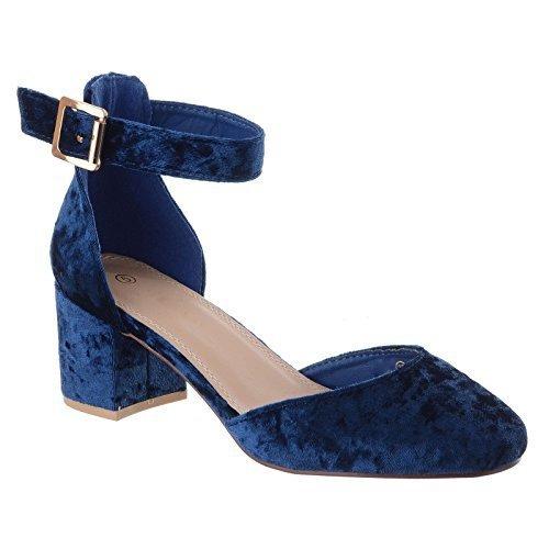 da donna nuove MEDIO tacco basso e Largo Cinturino alla Caviglia sandali  punta chiusa Scarpe Décolleté a708e0911e6