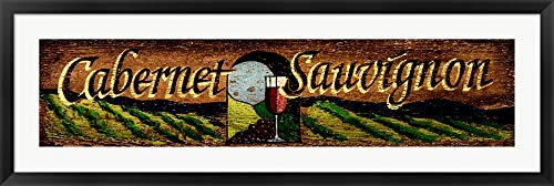 Cabernet by Red Horse Signs Framed Art Print Wall Picture, Black Frame, 49 x 17 inches