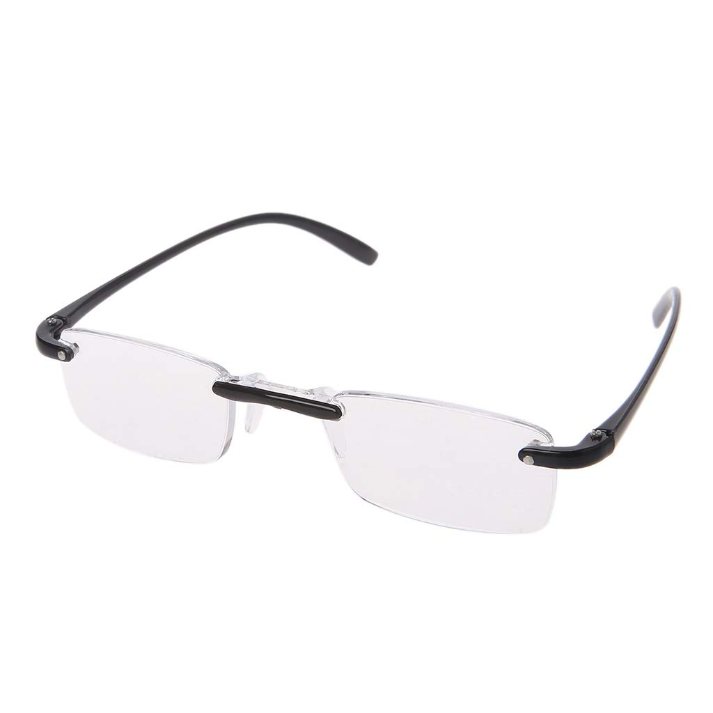 Tyjie Flexible Reading Glasses Fashion Unisex Clear Rimless Eyewear Reader +1.00 ~ +4.00 Best Gift For Family