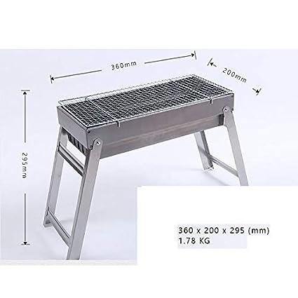 GL-outdoor Juego de Parrilla Plegable de carbón, Parrilla ...