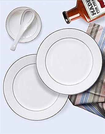 Servies Borden Set.Amazon Com 56pcs Set Fine Bone China Dinnerware Sets Ceramic