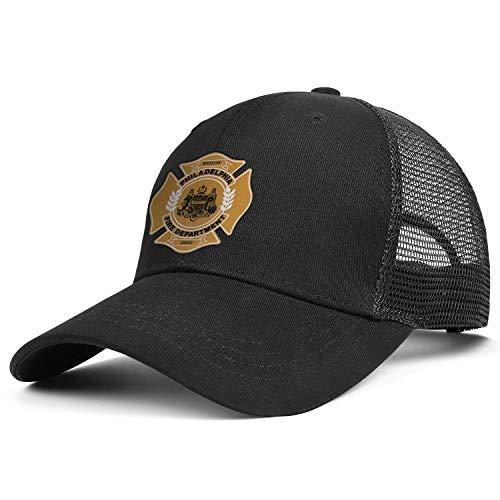 (DXQIANG Philadelphia Fire Department Unisex Classic Mesh Baseball Cap Lightweight Adjustable Dad)