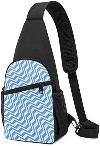 幾何学模様 斜め掛け ボディ肩掛け ショルダーバッグ ワンショルダーバッグ メンズ 多機能レジャーバックパック 軽量 大容量
