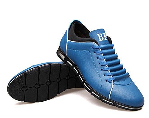 de Zapatos de Bajos Azul Zapatos de Oxfords Hombre de Zapatos Zapatos Zapatos Bandas Cordones Casuales qianchuangyuan Cuero Hombre Zapatos PU Hombre Vestir de Para F57WgUn