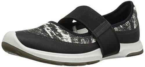 ECCO Women's Women's Biom AMRAP Mary Jane Fashion Sneaker, Black White, 39 EU / 8-8.5 US