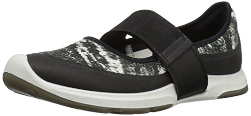 ECCO Women's Women's Biom AMRAP Mary Jane Fashion Sneaker, Black White, 36 EU / 5-5.5 - Leather Mary Janes Athletic