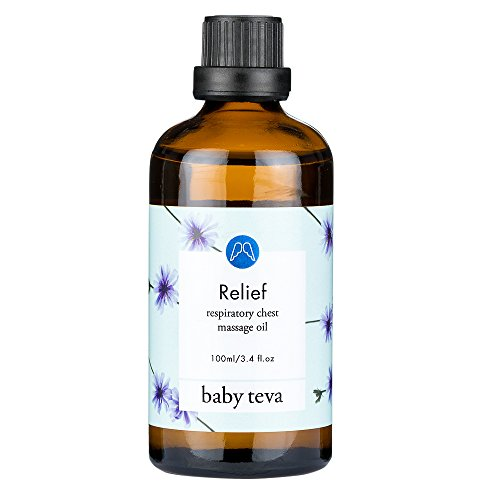 All Natural Baby Respiratory Support Oil Blend & Chest Rub, by Baby Teva (Home Remedies For Cold And Cough In Newborns)