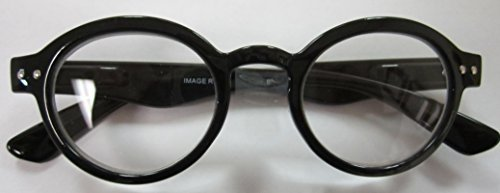 Retro Round Reader-Classic Lennon BLACK by Reading Glass Company of America (1.75) by Reading Glass Company of - Of Reading Company Glass America
