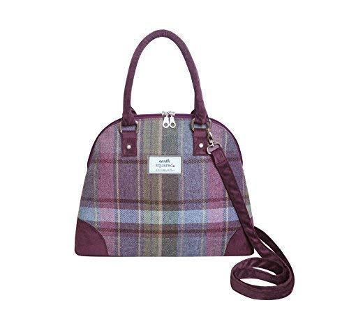 Earth Squared - Phoebe Bag - Arm/Handbag - Tweed Wool - Heather - 38x26x12cms