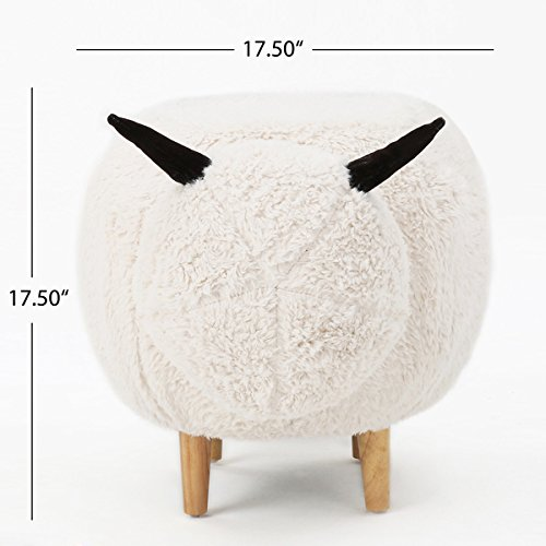 Christopher Knight Home Pearcy Velvet Sheep Ottoman by Christopher Knight (Image #2)