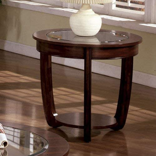 Furniture of America End Table, Dark Cherry