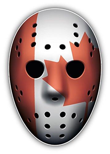 - novland Canada Flag Ice Hockey Goalie Mask Car Bumper Sticker Decal 3'' x 5''