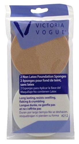 Victoria Vogue Round Sponge Non-Latex 2 Count Foundation (3 Pack)