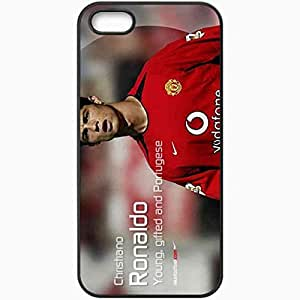 Personalized iPhone 5 5S Cell phone Case/Cover Skin Cronaldo 2 Cristiano Ronaldo Manchester United Football Black