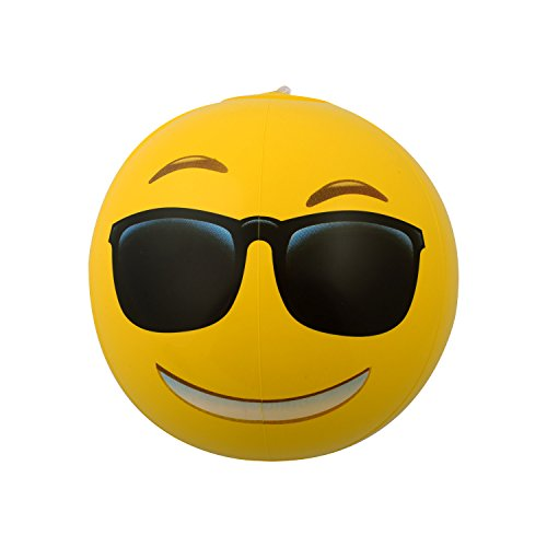 Amazon.com: Emoji Universe: 12\u0026quot; Emoji Inflatable Beach Balls, 12 ...