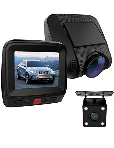 GOGO ROADLESS Dash Camera Kit,1080P Rear View Camera Front and Rear for Car with 170 Degree Wide Angle Night Vision G-Sensor Loop Recording WDR Function