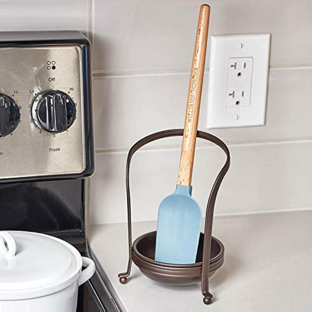 Upright Spoon /& Spatula Rest for Kitchen Countertops Chrome InterDesign York Houseware