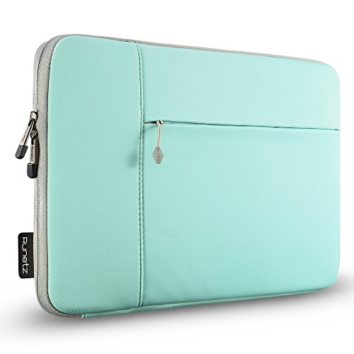 Runetz - 15-inch Hot Teal Neoprene Sleeve Case Cover for MacBook Pro 15.4 with Retina Display / Touch Bar & Laptop 15 - Teal-Gray