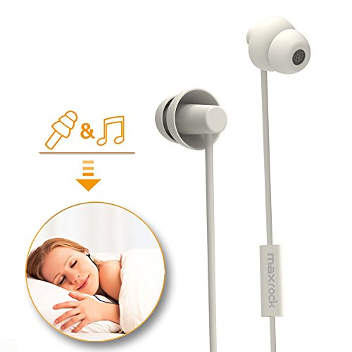 Maxrock Sleeping Headphones In Ear Soundproof Earplug
