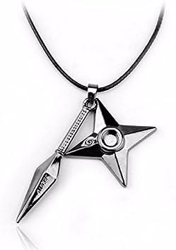 10pcs//set Naruto Uzumaki Kakashi Cosplay Weapons Necklace Pendant Props