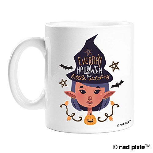 Funny Gag Ceramic Coffee Mug Halloween Present Idea Perfect Gift for birthday, men, women, present for him, her, dad, mom, son, daughter, sister, brother, wife, husband or friend (15oz, Witch)