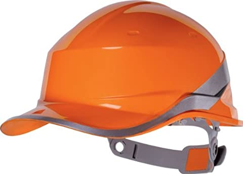 Venitex Mens Delta Plus Hi-Vis Baseball Safety Helmet Hard Hat Construction White O/S