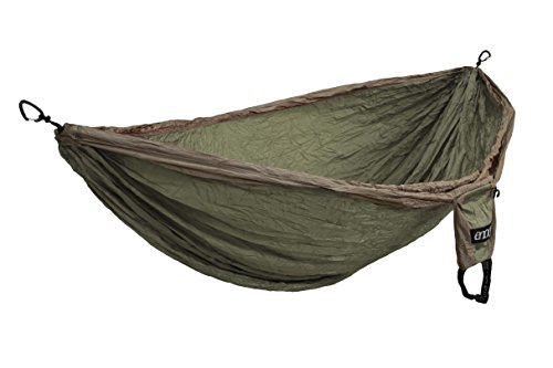 ENO – Eagles Nest Outfitters Double Deluxe Hammock, Portable Hammock for Two, Khaki Olive