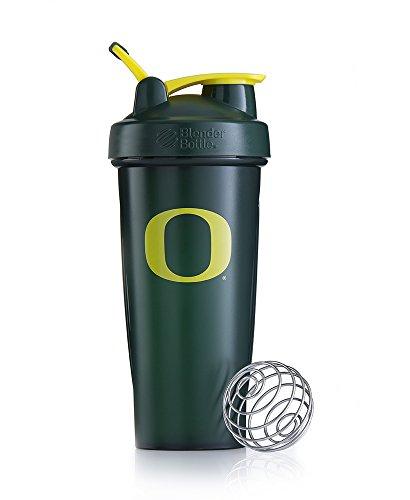 BlenderBottle Classic NCAA Collegiate Shaker Bottle, University of Oregon - Green/Yellow, 28-Ounce