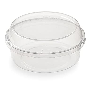 8 Ounces Basic Nature PLA Compostable Cold To Go Deli Container 500 count box