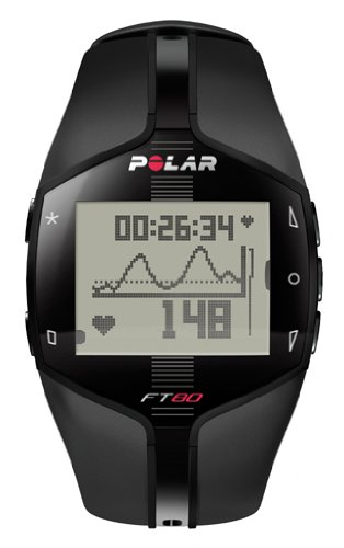 Polar Ft80 Heart Rate Monitor (Black With White Display) by Polar