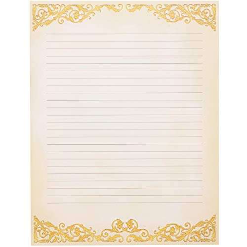Vintage Stationery Paper (8.5 x 11 in, 48 Pack)
