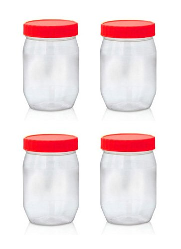 Merveilleux Sunpet Food Storage Canisters, Plastic, Red, 300 Ml, Small, Pack Of
