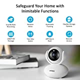 ANNKE 1080P IP Camera, Smart Wireless Pan/Tilt Home Security Camera, Auto Tracking, APP Alarm Push, Two-Way Audio, Support 64GB TF Card, Cloud Storage Available, (Echo Show/Echo Spot)Work with Alexa