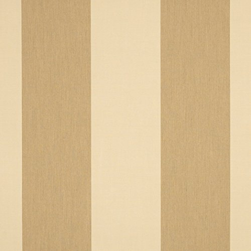 Dune Stripe - Sunbrella 46in Awning Stripe Premium 4891-0000 Manhattan Dune Fabric by The Yard