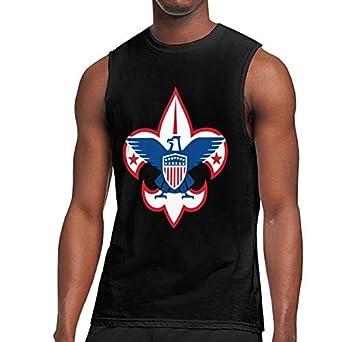 Scout Logo Tank Top Exercise Tank 100/% Cotton Bodybuilding Vest