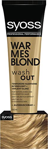 Syoss Wash Out Warmes Blond Stufe 0, 1er Pack (1 x 150 ml)
