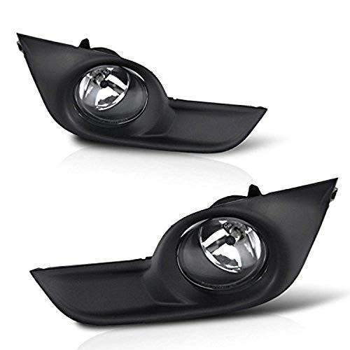 (Remarkable Power FL7118 Fit For 2013-15 Nissan Altima Chrome Black Bezel Fog Lights Kit )