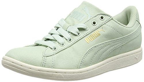 Puma Vikky Canvas, Zapatillas de Baloncesto para Mujer Verde - Green (Green Lily/Green Lily)