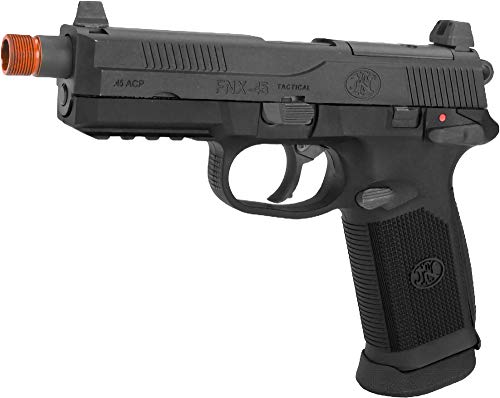Evike FN Herstal FNX-45 Tactical Airsoft Gas Blowback Pistol by Cybergun (Color: Black/Gun Only)