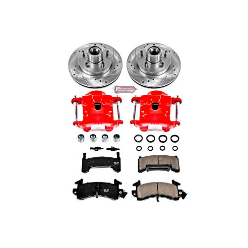 Power Stop KC1482 1-Click Performance Brake Kit with Calipers, Front Only