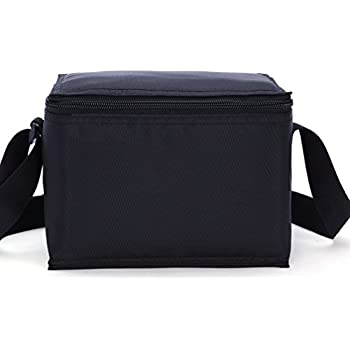 MIER Soft Cooler Bag Small Insulated Lunch Box Bag for Kids, Girls, Boys (Black)