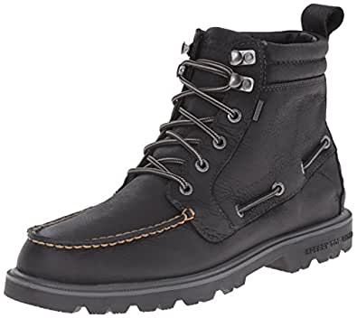 Sperry Top-Sider Men's Authentic Original Lug Boot WP Winter Boot, Black, 8 M US