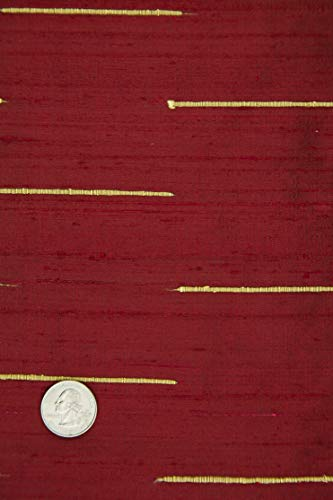 Chilli Pepper Red Gold Silk Shantung 130/14 Fabric